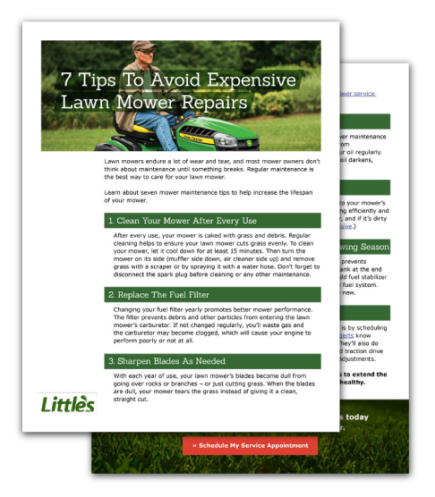 Little's 7 Tips to Avoid Expensive Lawn Mower Repairs