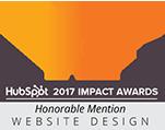 Website Design, Honorable Mention, HubSpot 2017 Imact Awards