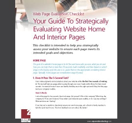 Evaluate the marketing and sales potential of your website home page and interior pages.